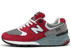 Кроссовки Женские New Balance 999 Red Grey White