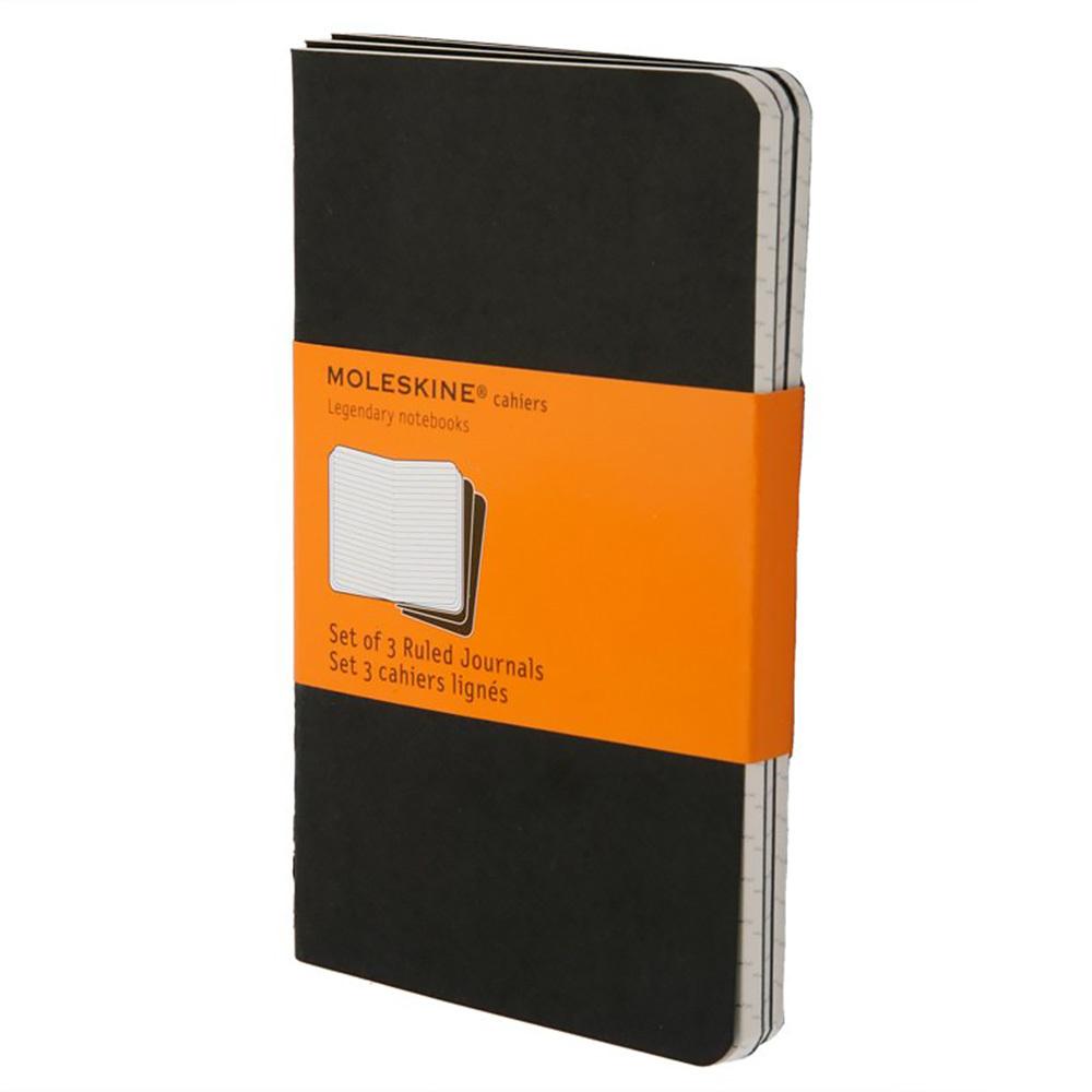 Набор 3 блокнота Moleskine Cahier Journal Pocket, цвет черный, в линейку