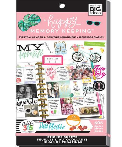 Блокнот со стикерами для ежедневника Create 365 Happy Planner Sticker Value Pack- EVERYDAY MEMORIES - 606 шт