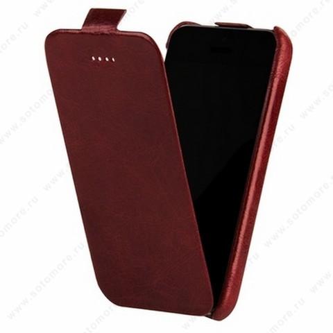Чехол-флип Borofone для iPhone 5C - Borofone General flip Leather Case Wine Red