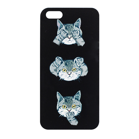 Чехол для IPhone 5/5S Black Cat