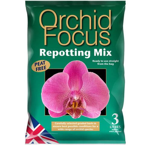 Грунт для орхидей Orchid Focus Repotting Mix 3л