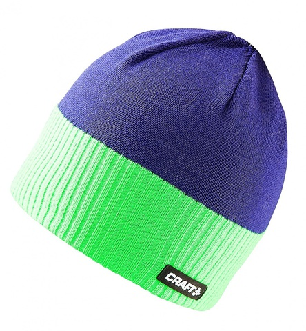 Шапка Craft Bormio (blue/lime) унисекс