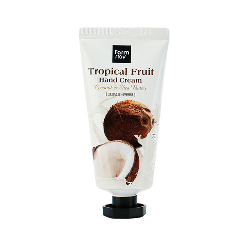 Крем для рук FarmStay Tropical Fruit Hand Cream, кокос и масло ши