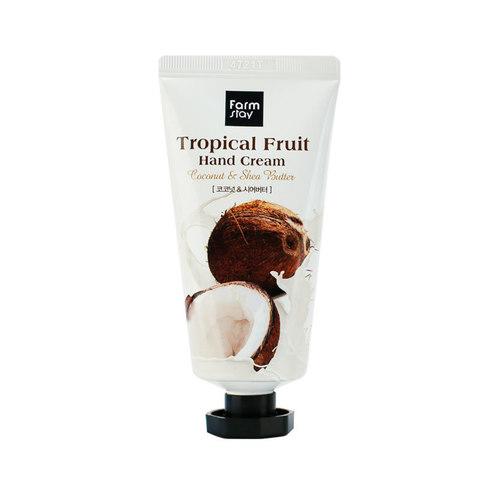 Крем для рук FarmStay Tropical Fruit Hand Cream, кокос и масло ши