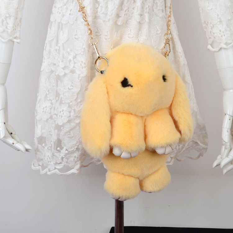 Жёлтый вариант цвета сумки кролик