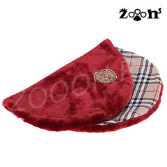 Дог Мода Плед-коврик для собак красная клетка плюш 40х50 см