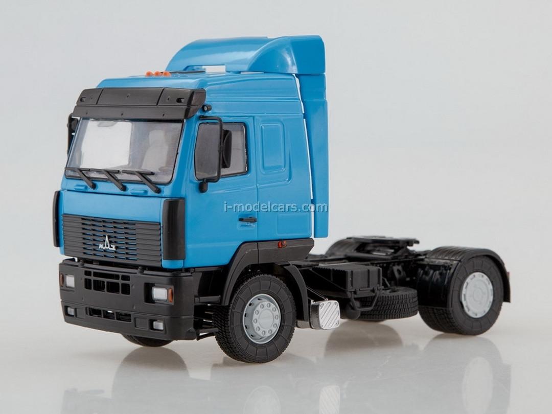 MAZ-5440 semi-trailer tractor blue 1:43 AutoHistory