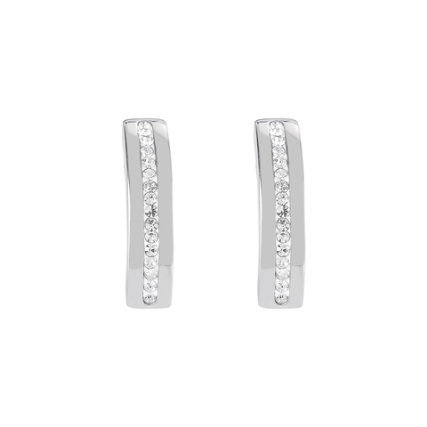 Серьги Coeur de Lion 0126/21-1800 цвет серебряный, белый