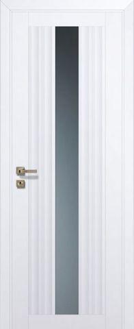 Дверь Profil Doors № 53 U, стекло графит, цвет аляска, остекленная