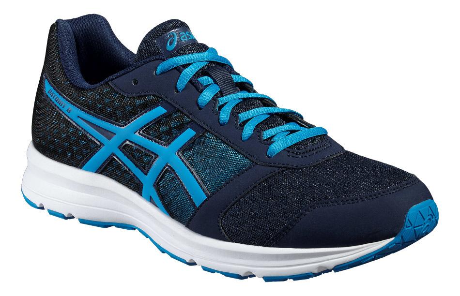 Мужские кроссовки для бега Asics Patriot 8 (T619N 5843) темно-синие | Интернет-магазин Five-sport.ru