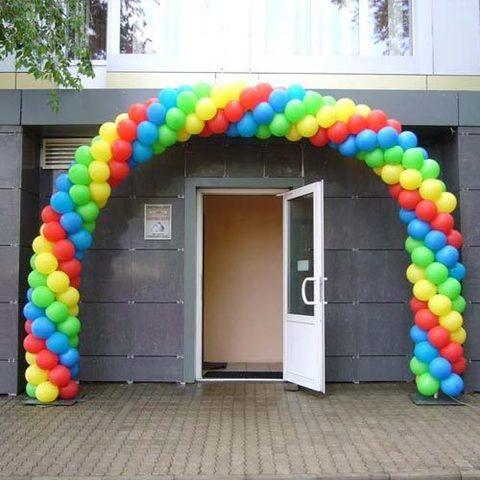 shop-shariki.ru арка из шаров на вход яркая