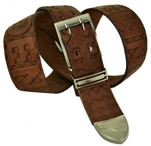 Ремень мужской кожаный рыжий 40 мм для джинс 40legend-034