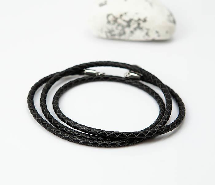 PL285-1 Плетеный шнур на шею из натуральной кожи фото 03