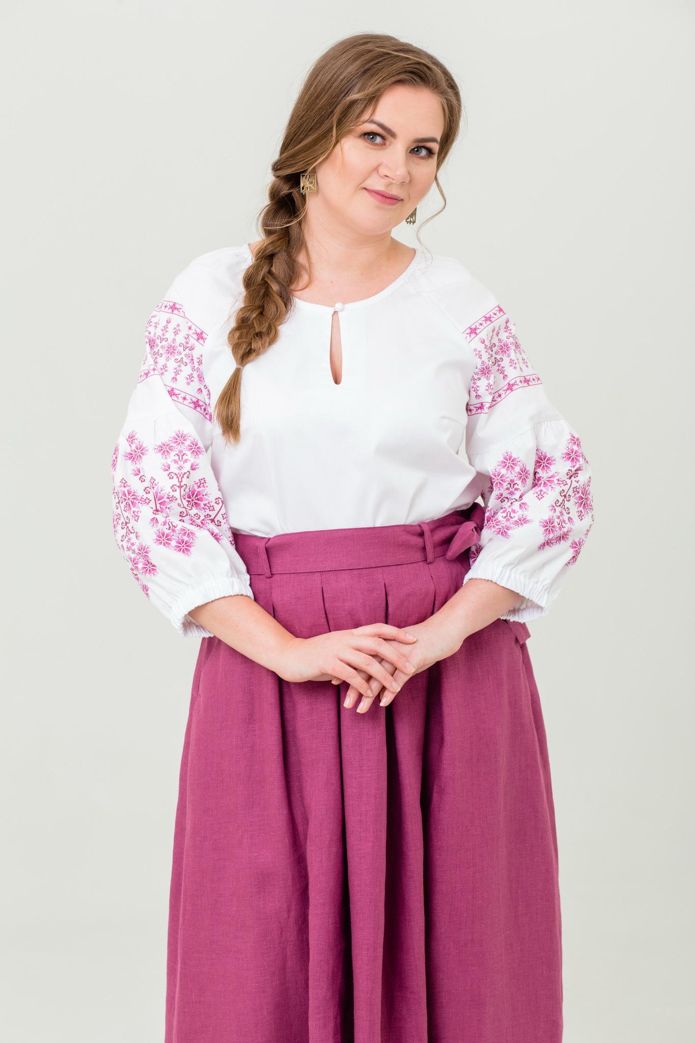 Блуза хлопковая Яблоневый цвет