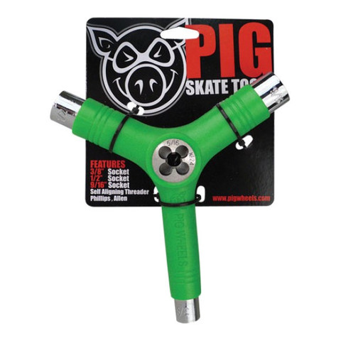 Ключ PIG Skate Tool (Green)
