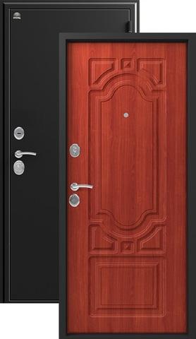 Дверь входная Сибирь S-7, 2 замка, 1 мм  металл, (чёрный шёлк+итальянский орех)