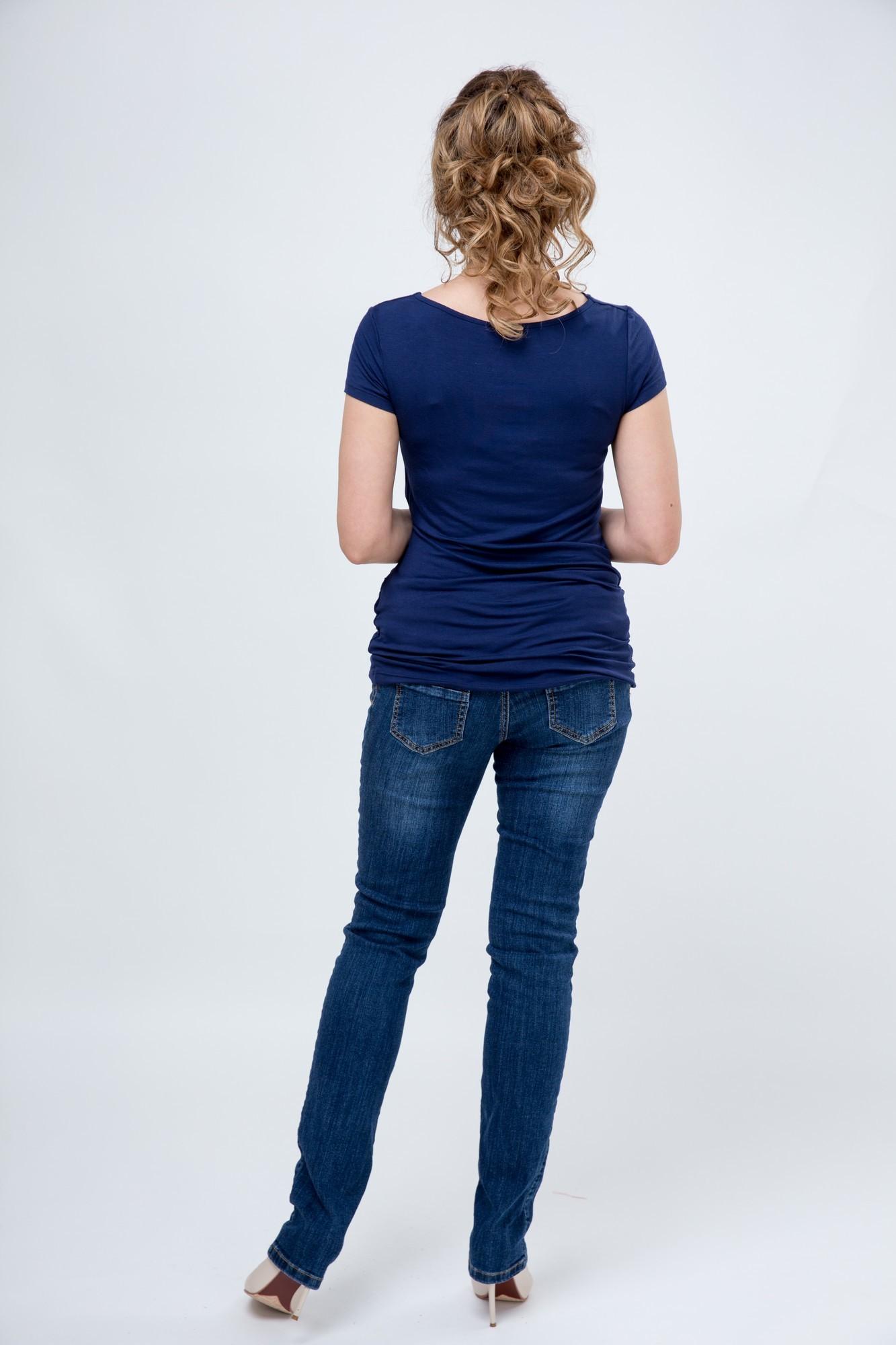 Блузка для беременных 09703 синий