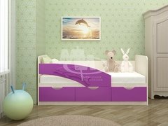 Кровать Дельфин мдф 1,6 м (Миф)