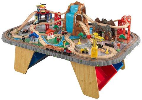 KidKraft Горный тоннель Waterfall Junction Train Set and Table - игровой набор 17498_KE