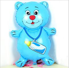 Шар мишка большой 80 см розовый/голубой
