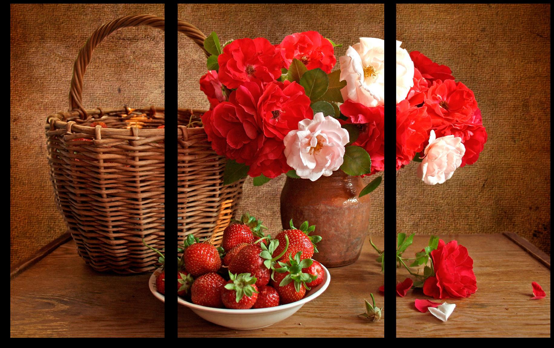 "Цветы Модульная картина ""Цветочная ягода"" М379.png"