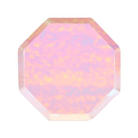 Маленькие радужные восьмиугольные тарелки