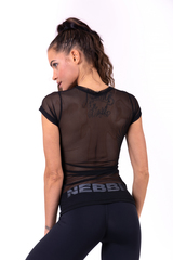 Женская майка Nebbia Flash-Mesh T-shirt 665 black
