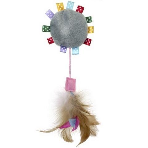 NEMS игрушка для кошки светящаяся с перьями