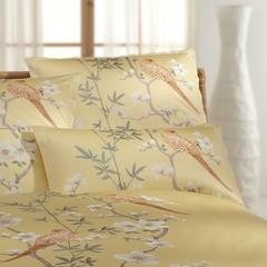 Наволочка 50x70 Elegante Fasan золотая