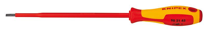 Отвертка шлиц 4,5 диэлектрическая VDE 1000V Knipex KN-982145