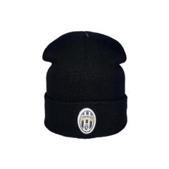 Вязаная шапка с логотипом ФК Ювентус (Juventus) черная