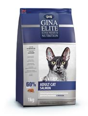 Gina Elite Grain Free Adult Cat Salmon полнорационный беззерновой корм для взрослых кошек с лососем