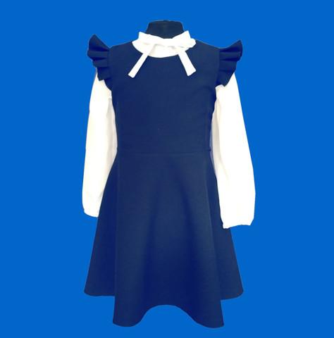Сарафан школьный темно-синий 03