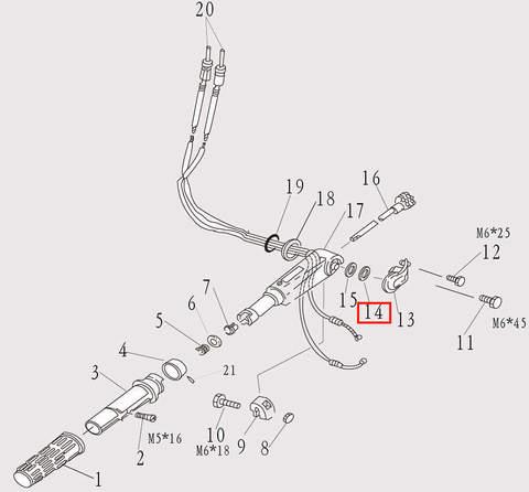 Шайба румпеля для лодочного мотора F9.8 Sea-PRO (7-14)