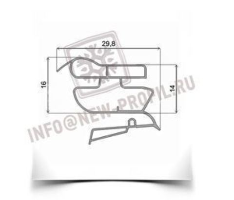Уплотнитель 39*59 см для холодильника Zanussi Z626160 (холодильная камера)  Профиль 022