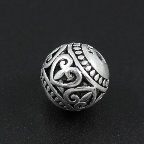 Бусина Валентин 11 мм серебро 925
