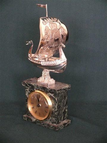 Часы Ладья с серебрением