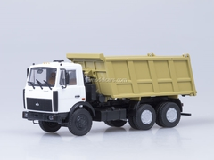 MAZ-5516 tipper white-yellow AutoHistory 1:43