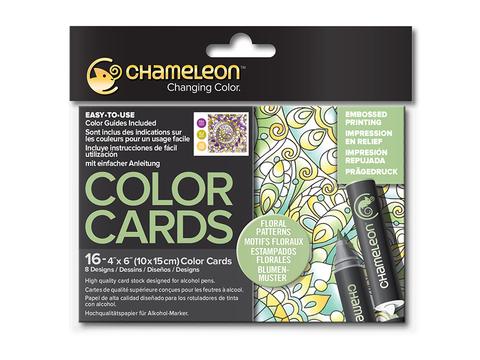 Раскраска-склейка Chameleon Floral Patterns/Цветочные узоры