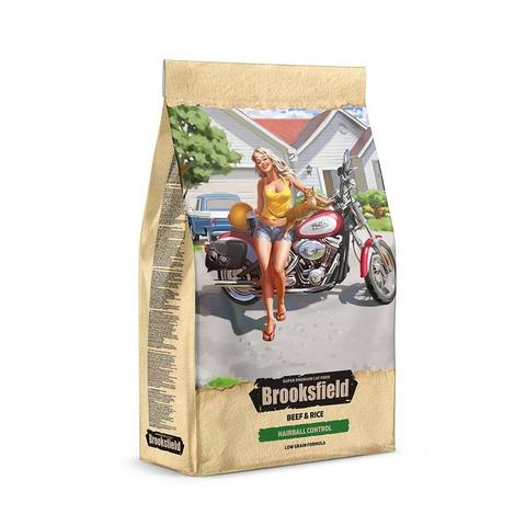 Сухой корм Brooksfield Low Grain Adult Cat Hairball Control Beef
