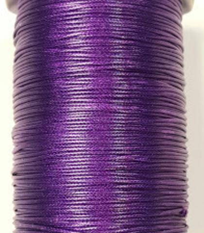 Шнур нейлон вощеный 1.0 мм. фиолетовый 10 метров