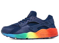 Кроссовки Женские Nike Air Huarache Navy Raimbow