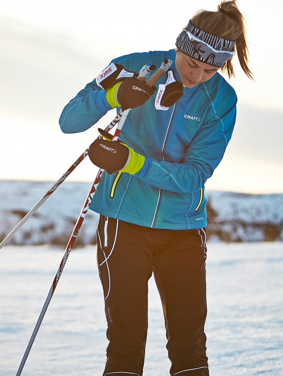 Женская лыжная куртка крафт High Function (1903684-2320) фото