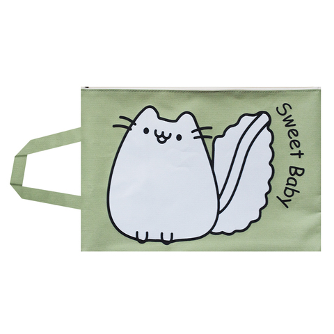 Папка для бумаг Pusheen Green