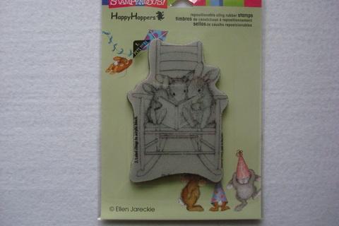 Резиновый штамп «Читающие кролики»