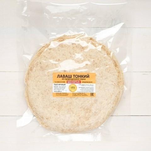 Лаваш пшеничный тонкий 25см 400гр (в уп. 10 шт),