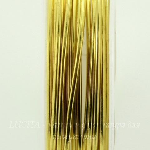 Проволока латунная 1 мм, цвет - латунь, примерно 2,5 метра