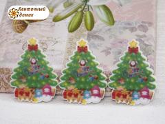 Плоский декор Праздничная Елочка с подарками