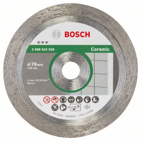 Алмазный диск BOSCH 76х1,9х10 мм по керамике для мини болгарки GWS 10,8-76 V-EC 2608615020